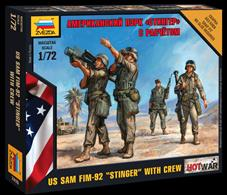 Zvezda 1/72 Modern US PZEK Stinger Missile with Crew 7416Paints are required