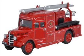 Oxford Diecast 1/76 Bedford Heavy Unit Lancashire County Fire Brigade 76BHF005