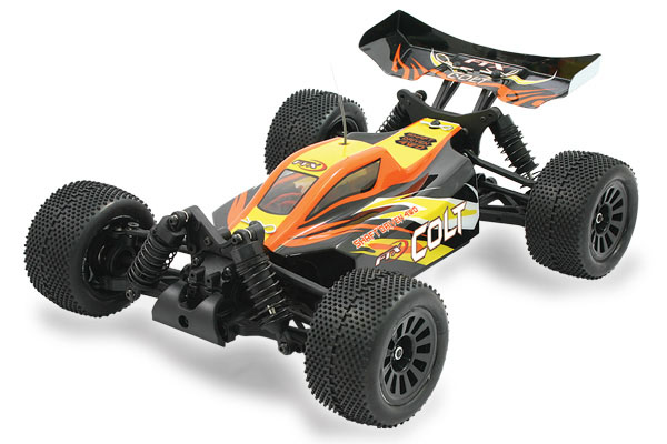 FTX 1/18 Colt RTR 4WD Black & Orange Electric Off-Road Buggy FTX5506<p>Small but perfectly formed, the FTX Colt packs a big punch for such a small package. This shaft driven 4wd mini buggy is an ideal start up model for young r/c enthusiasts looking to get started in off road buggies. </p>