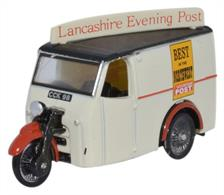 Oxford Diecast 1/76 Tricycle Van Lancashire Evening Post 76TV006Tricycle Van Lancashire Evening Post