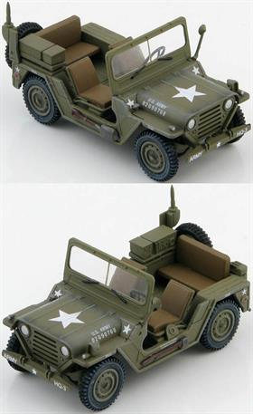 Hobby Master M151A2 MUTT US ARMY 02G90768, War of Vietnam1/48 ScaleIn 1951 Ford Motor Company was awarded a contract to develop a replacement for the M38 Jeep Light Utility Vehicle. The vehicle had to be a 1/4 ton 4x4 Military Utility Tactical Truck (M151 MUTT) and after extensive testing began production in 1959 until 1982. The M151, M151A1, and M151A2 are a general purpose personnel or cargo carrier. Eventually manufacturing contracts were awarded to Kaiser and AM General Corp and well over 100,000 MUTTs of many variants produced.