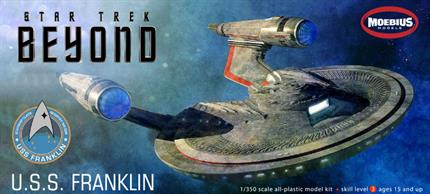 "With 95 Parts and being over 15"" long this model of The USS Franklin is from the Film Star Trek Beyond."