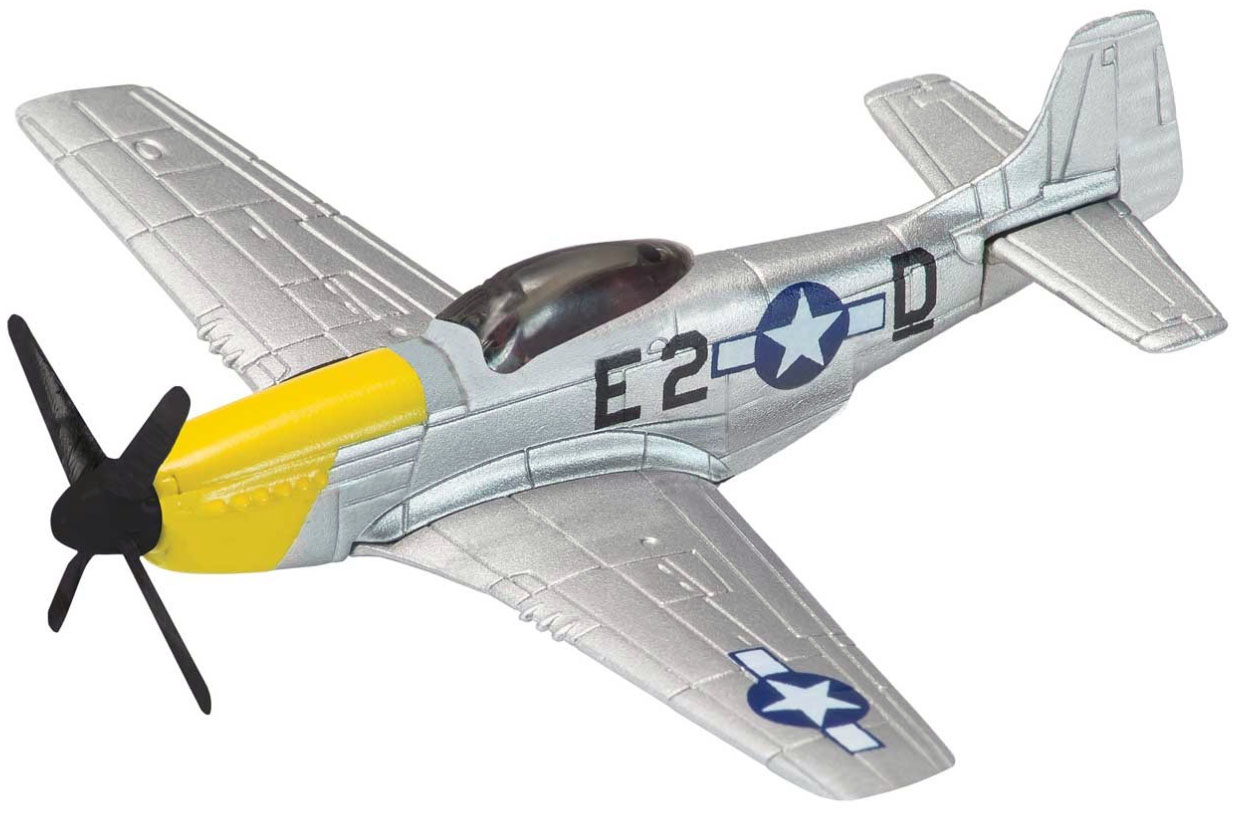 P-51 Mustang from the Showcase Collection CS90627 is a quality die-cast model aircraft suitable for younger collector. Wingspan 102mm
