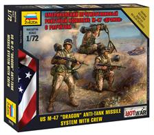Zvezda 1/72 Modern US M-47 Dragon Anti-tank Missile System with Crew 7415