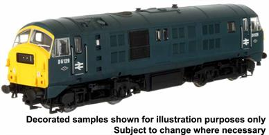 A highly detailed model of the North British design type 2 diesel electric locomotives which were rebuilt with Paxman Ventura engines in an effort to improve the reliability of the type. The rebuilt locomotives were given class number 29.Model finished as D6129 in BR corporate blue livery with yellow ends.