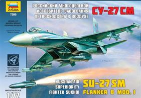 Zvezda 7295 1/72nd Soviet Su-27SM Flanker Plastic Fighter Aircraft KitNumber of Parts 210   Length 313mm