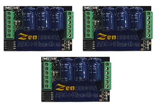 DCC Concepts Pack of 3 Zen Buddha 4 Function 3 Amp Decoder with Alive DCD-ZBHP 4-3<br />Pack of 3 DCC Concepts Zen Buddha 4 Function 3 Amp Decoders with Stayalive DCD-ZBHP4-3