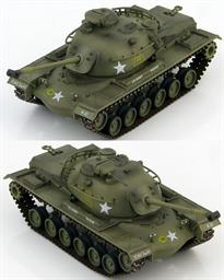 Hobby Master M48A2 Patton medium tank 1st Cavalry Division., US Army, Korea 1963 <p>1/72 Scale</p><p>The M48 Patton is a medium tank and was the third and final tank to be officially named after General George S. Patton. The first version used in Vietnam was the gasoline engined M48A2 but was soon out numbered by the diesel powered M48A3 which became the most numerous US tank during the conflict. The M48A3s were conversions of earlier models so it wasn't uncommon for many characteristics to vary from tank to tank. Some M48A3s had 3 support rollers while others had 5 and the headlight assemblies could either be the early or later type.</p>