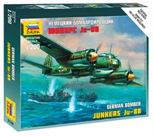 Zvezda 1/200 German Junkers Ju-88A4 Art of Tactic 6186Paints are required