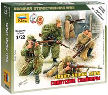 Zvezda 1/72 Art of Tactic Soviet Snipers Set 6193