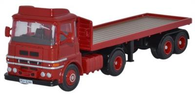 Oxford Diecast 1/76 ERF LV Flatbed Red 76LV001ERF LV Flatbed Red