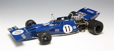 EBBRO E007 1/20 1971 Tyrrell 003  F1 Car - Monaco SpecificationThis kit builds into a nicely detailed model of the 1971 Tyrrell 003 as raced in the 1971 Monaco Grand Prix by Jackie Stewart.