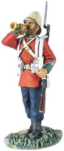 WBritain 1/30 British 24th Regiment of Foot Bugler Standing Metal Zulu War Figure 20145<br>WBritain British 24th Regiment of Foot Bugler Standing Zulu War Figure<p>The regiment first came into existence, as the 24th Regiment of Foot in 1689. It later became the South Wales Borderers.</p><p>1/30 Scale</p><p>Matt Finish.
