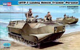 .Hobbyboss 82409 1/35 Scale  US Marines LVTP-7 Landing Vehicle - Tracked - Personnel CarrierDimensions - Length 266.7mm Width 89mm.The kit comprises of over 780 components including some photo etched items. The crew entry door can be fixed in the open or closed position. A decal sheet and detailed instructions are included.Adhesive and paints are required to complete the model (not included).
