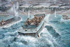 Italeri brings you 6524 a 1/35th scale plastic kit of a LCVP landing craft with US Infantry. This completely new mould includes three figures and over 150 fully detailed parts.