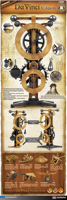 Academy Da Vinci Clock Kit 18150