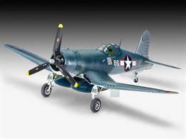 Revell's 1/72nd Scale Plastic Kit of the 03983 Vought F4u-1A Corsair WW2 Fighter Plane KitLength 148mm Number of Parts 63 Wingspan 173mmGlue and paints are required