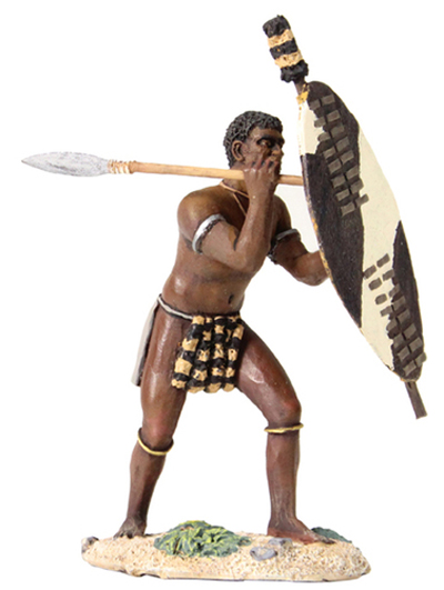 W Britain Zulu Warrior Beating Shield with Spear<p>1/30 Scale</p><p>Matt Finish</p>