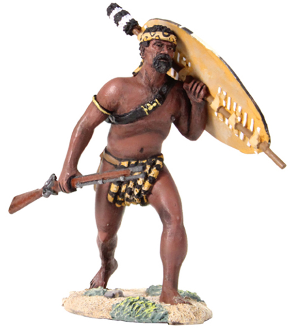 W Britain Zulu Warrior Advancing with Rifle at Trail Figure<p>1/30 Scale</p><p>Matt Finish</p>