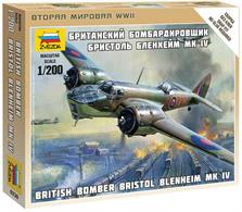 Zvezda 1/200 British Bristol Blenheim Bomber kit 6230