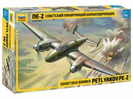 Zvezda 4809 1/48th Russian Petlyakov Pe-2 Fighter Bomber Kit Number of Parts 435  Length 257mm
