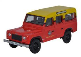 Oxford Diecast 1/76 Land Rover Defender Station Wagon London Fire Brigade 76DEF011Land Rover Defender Station Wagon London Fire Brigade