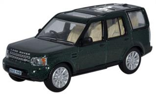 Oxford Diecast 1/76 Land Rover Discovery 4 Aintree Green 76DIS003Land Rover Discovery 4 Aintree Green