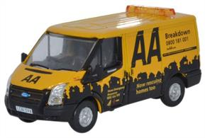 Oxford Diecast 1/76 Ford Transit SWB Low Roof AA 76FT016Oxford Diecast brings you 76FT016 a 1/76th scale doecast model of a Ford Transit SWB Low Roof as used by the AA