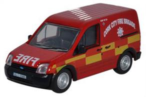 Oxford Diecast 1/76 Ford Transit Connect Cork City Fire Brigade 76FTC003Ford Transit Connect Cork City Fire Brigade