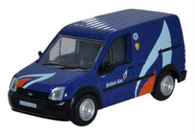 Oxford Diecast 1/76 Ford Transit Connect British Gas 76FTC004