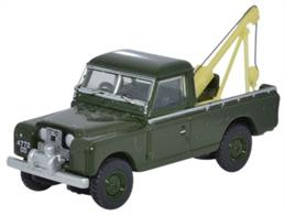 Oxford Diecast 1/76 Land Rover Series II Tow Truck Bronze Green 76LAN2009Land Rover Series II Tow Truck Bronze Green