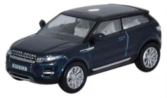 Oxford Diecast 1/76 Range Rover Evoque Baltic Blue 76RR003Range Rover Evoque Baltic Blue