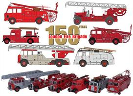 Oxford Diecast 1/76 6 Piece London Fire Brigade 150th Anniv. WLG/TLM/Regent/F8/F106/AEC 76SET316 Piece London Fire Brigade 150th Anniv. WLG/TLM/Regent/F8/F106/AEC