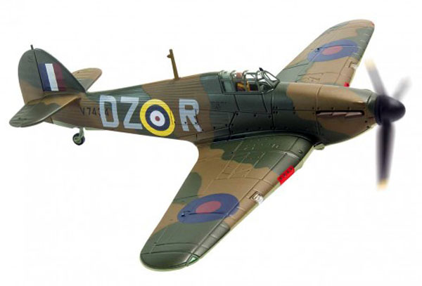 Corgi AA27601 1/72 Scale Hawker Hurricane MkI, V7434 DZ-R, flown by Pilot Officer Irving Smith , No.151 Squadron, Digby, October 1940<br>Wingapan 169mm
