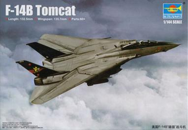 .Trumpeter's 03918 1/144th scale plastic kit of the US Navy F-14B Tomcat