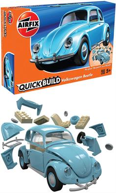 Airfix Quickbuild VW Beetle Clip together Block Model J6015Airfix QUICK BUILD is an exciting range of simple, snap together models suitable as an introduction to modelling for kids (ages 5 and up), or as a bit of construction fun for the more experienced modeller.