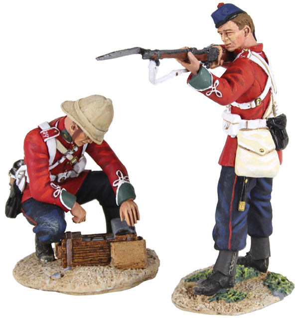 "WBritain 1/30 Zulu Wars More Ammo 2 Piece set 20155<br>WBritain 1/30 Zulu Wars More Ammo 2 Piece set 20155W Britain Zulu Wars - ""More Ammo""<p>Men of the 24th Regiment of Foot, one wearing a Glengerry, Standing Firing and one Opening an Ammo Box</p><p>2 Piece Set</p><p>1/30 Scale</p><p>Matt Finish</p>"