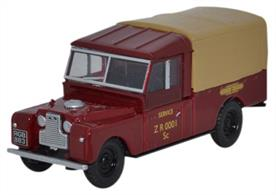 "Oxford Diecast 1/76 Land Rover Series 1 109"" Canvas British Railways 76LAN1109009Land Rover Series 1 109"" Canvas British Railways"