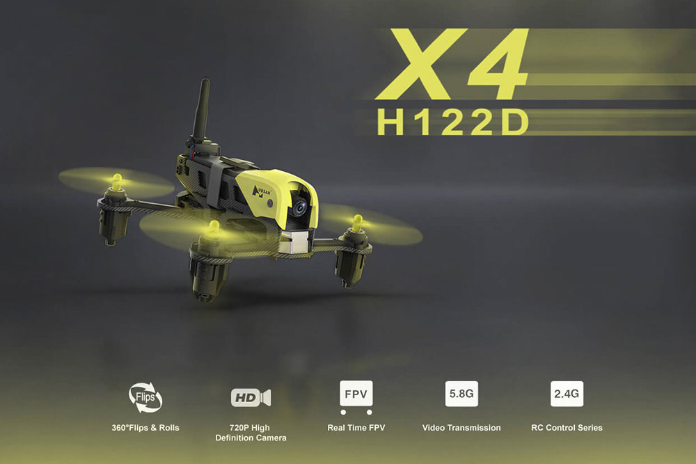 Hubsan  X4 Storm Quadracer with LCD Screen & Goggles H122D