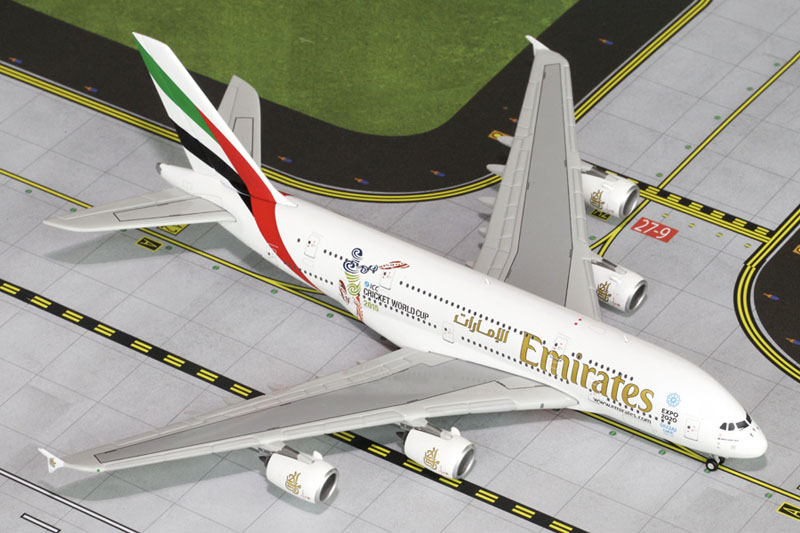 Gemini Jets 1/400 Emirates Airbus A380 ICC Cricket World Cup A6-EEK GJUAE1469