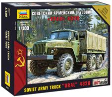 Zvezda 1/100th Russian Army Truck URAL 4320 Kit 7417