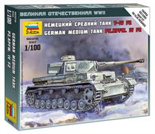 Zvezda 1/100 German Medium Tank PZ.KPFW. IV FZ 6251