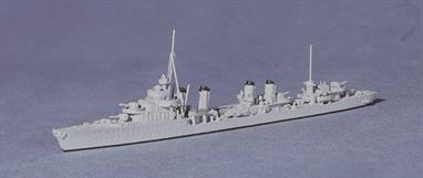 A 1/1250 scale metal model of French destroyer Cassard by Navis Neptun 1462A