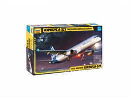 Zvezda 7017 1/144th Airbus A-321 Airliner KitNumber of Parts 145    Length 309mm