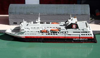 A 1/1250 scale metal model of the new, Hurtigruten passenger ship, MS Spitzbergen of 2016.