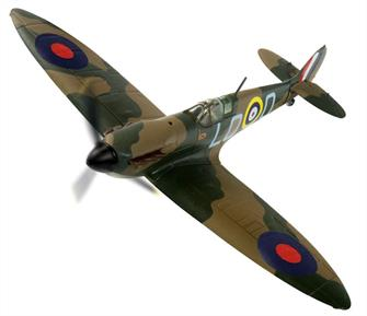 Corgi Aviation Archive AA39210 is a 1/72nd scale diecast model of a Spitfire MkI, LO-Q, L1004 flown by Squadron Leader A Johnstone, attached to 602 Squadron based at DFC Tangmere, August 1940Wingspan 153mm