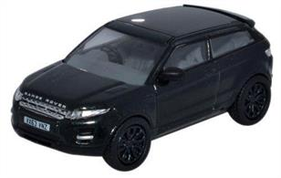 Oxford Diecast 1/76 Range Rover Evoque Black 76RR004Range Rover Evoque Black