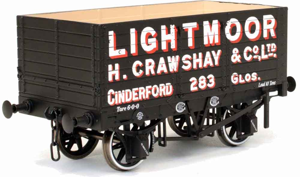 Dapol Lightmoor 7 Plank Open Wagon No.283 RCH 1887 Design Side & End Doors RTR O Gauge 7F-073-003