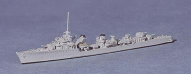 This was intended as a standard design to be made in larger numbers than the super destroyers that had been made between the world wars but the fall of France in 1940 meant that very few were completed.