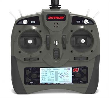 With the stability and reliability-supported technology that the Detrum GAVIN-8C transmitter offers, you can learn and grow in the hobby with the confidence and support you deserve.